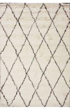 Rugs USA Tuscan Moroccan Shag Ivory Rug