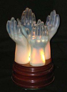 SABINO HANDS Sabino Art Glass Opalescent Crystal