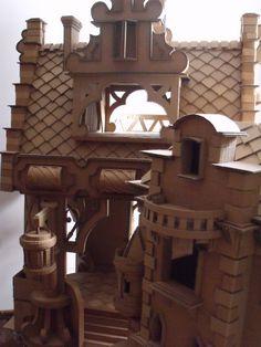 Cardboard Castle #Cardboard, #Castle, #DIY, #Kid