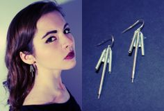 Earrings made from printer parts