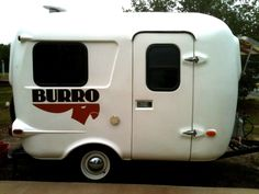Nearly mint 1986 Burro fiberglass travel trailer.  Not that I'd need a mint condition one.  $6100