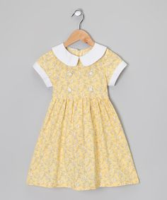 http://www.zulily.com/invite/vhanson979 Take a look at this Yellow  White Umbrella Dress - Toddler  Girls by Sweet Charlotte on #zulily today!