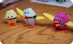 Easter Chick Candy Holder - using egg carton - great craft for kids too