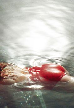 dip, red, front door, keep swimming, summer vibes