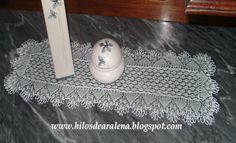 Centro de mesa rectangular en agujones