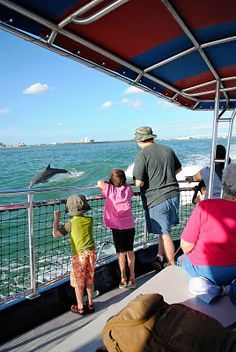 """There's a """"dolphin view"""" dinner cruise that leaves from the Dolphin View Seafood restaurant.  A great thing to do while you're staying at Moontide in New Smyrna Beach, FL.   http://theMoontide.blogspot.com"""