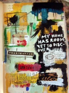 Fragmenting #artjournal #artist #art #letsbeartists #secretmessages #mixedmedia #basquiatinspired