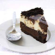 Brownie Swirl Cheesecake. Looks divine.