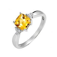 citrine wedding bands | Home > Gemstone Rings > 1 Carat Citrine Engagement Ring on Silver Citrin Theme, Gemstone Rings, Diamond Stone, Citrin Engag, Citrin Jewelri, Citrin Ring, Engag Ring, Carat Citrin, Engagement Rings