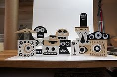 Box of Blocks | Designer: Invisible Creatures... Not for sale, these monster blocks were made as a gift for the art directors at Target.