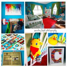 Colorful and creative baby boy nursery