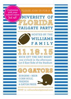 Stripes Football Tailgate Invitation