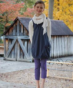 Take a look at this Cream & Gray Layered Bubble Tunic - Toddler & Girls on zulily today!