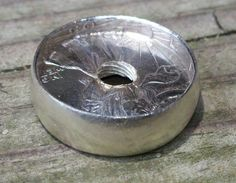 1943 Standing Liberty Size 7 Coin Ring....1/2 Finished!