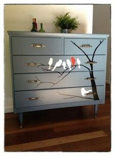 Painted dresser- the kids dresser
