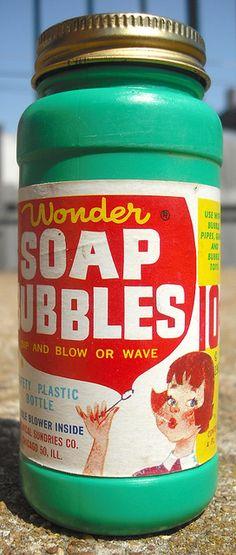 Blowing Soap Bubbles.