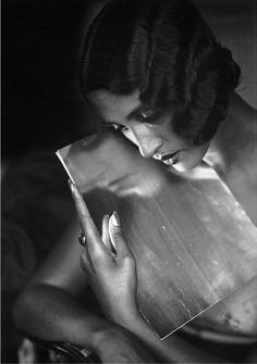 1930, Renée Perle by Jacques Henri Lartigue | mirror mirror on the wall | vintage black & white | 1930s | sombre | reflect | beauty |