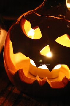 Snake Eye Ceramic Halloween Jack o Lantern by ShellHawksCreations, $40.00