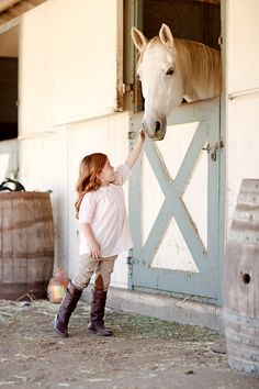 Adorable + Horse + Barn