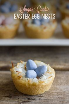 cookie cups, sugar cooki, easter eggs, cooki nest, egg nest