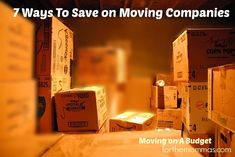 How to Save Money with Moving Companies and Movers