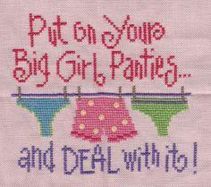 Big Girl Panties - counted cross stitch