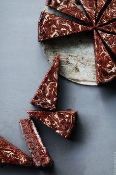 Hot Chocolate Brownie Torte