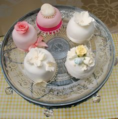 MINIATURE VINTAGE  WEDDING CAKES by Stephs cupcakes, via Flickr                                                                                                            MINIATURE VINTAGE  WEDDING CAKES             by        Stephs cupcakes      on ..