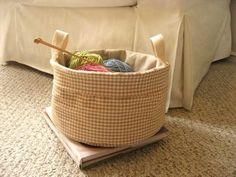 fabric basket - tutorial at http://www.michaelmillerfabrics.com/Blog/soft_basket.pdf