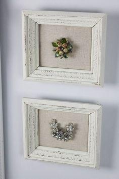 Frame antique jewelry. Burlap or linen backer?