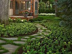 diy ideas, pathway, brick, garden paths, front yards, patio, backyard, shade, stepping stones