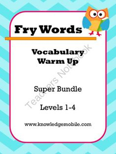 Fry Words - Vocabulary Warm Up - Super Bundle (Words -1-1000) from Knowledge Mobile on TeachersNotebook.com -  (1000 pages)  - Fry Words Super Bundle- Words 1-1000- Over 40 Lists of Interactive Fun! Each list comes with printables and a different game that students love. Print today so your students can learn tomorrow!!! :)