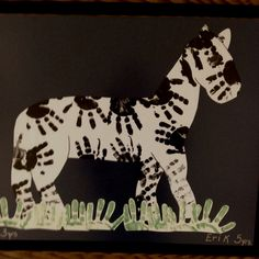 zebra crafts for kids, zebra crafts preschool, zebra crafts for preschoolers, zebra handprint, neat crafts, zebra stripes, handprint art, hand prints, zoo animals
