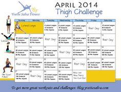 Thigh Challenge - April 2014 - Yvette Salva Fitness Blog