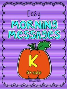 Kindergarten Morning Messages with an October theme are a great way to teach spelling and phonics! This packet includes the following topics: pumpkin patch, hayride, haunted house, witch, leaves, costume, mummy, bat, black cat, spider, Columbus, ship, moon, Skill include: *Beginning sounds *Middle sounds *Ending sounds *Punctuation marks *Blends *Rhyming words *Spelling *Letter format #phonics #morningmessage #spelling $