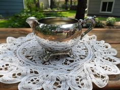 Vintage Silverplate Victorian Style Footed Creamer by Andie83, $10.00