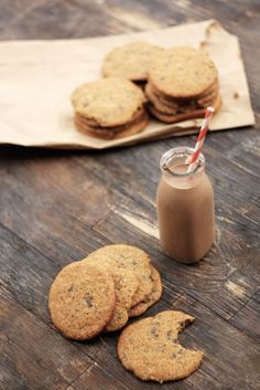 food + words | recipes. stories. life, from scratch. » banana chocolate chip cookies & chocolate banana milk.