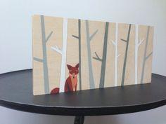 Hand Painted Woodland Fox Art Woodland Nursery by SweetBananasArt, $40.00
