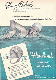 Howland Swim Caps ad from 1952. -- nothing in this world sexier than a bathing cap. :-)