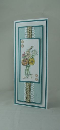 Jan Marie's Flourishes  today's card for release of Garden Picks.