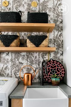 Eclectic Laundry Room by Ali Hynek