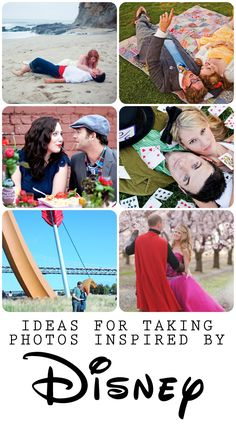 Photography sessions inspired by Disney movies - cute for engagement photos or a fun anniversary date