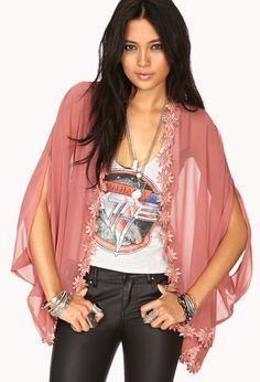 Enchanted Sheer Kimono | FOREVER21 Oh kimono we did! #Sheer #Floral #Embroidered #MustHave
