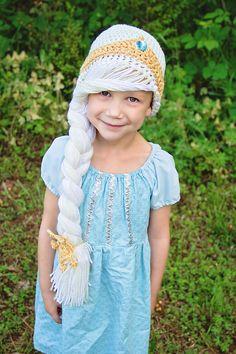 Elsa coronation inspired hat Amy's Custom Crochet  Dress by Chameleon Girls  Frozen, Frozen Inspired
