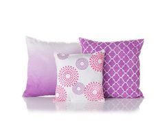 Martha Stewart Radiant Pillows   - click thru for the full how-to on these pretty purple projects inspired by Pantone Color of the Year Radiant Orchid #plaidcrafts #crafts #diy #marthastewart #marthastewartcrafts #plaidcrafts #diy #crafts #12Monthsofmartha