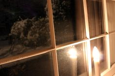 #snow #window #candle #christmas #winter