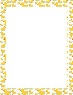 page border featuring cute cartoon ducks. Free downloads at http ...