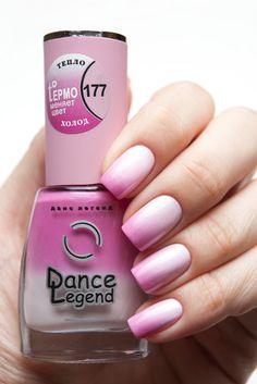 Dance Legend Termo 177.  Термолаки (Thermo nail polish)  Nail polish that changes color because of temperature.