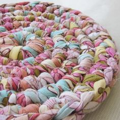 I would love to make a rag rug like this one day!