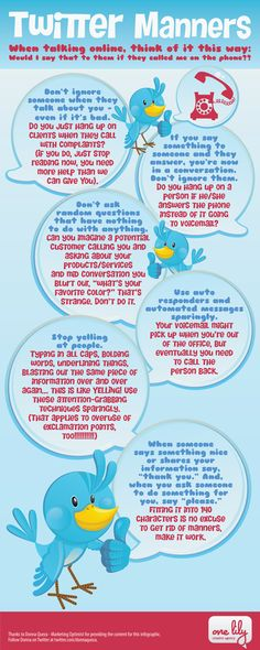 Twitter manners [infographic] But is Twitter really like a phone call?.... Repinned by @jagtomas de #ixu